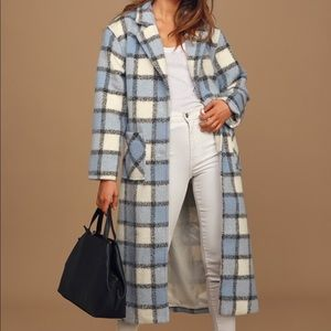 Lulu's blue and white plaid coat